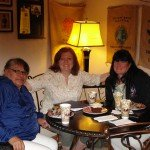 Mary, Bonnie & Kelly at Higher Grounds Coffee Shop in Pine Ridge